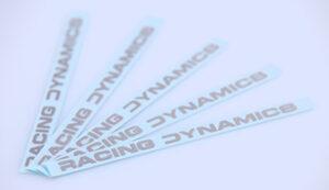 RACING DYNAMICS Echtmetall-Schriftzug